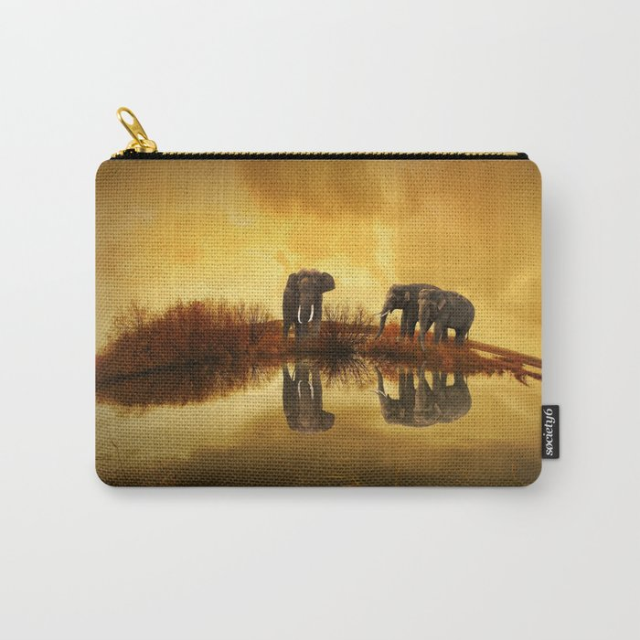 The Herd (Elephants) Carry-All Pouch