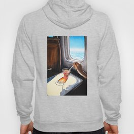 Glass in Airplane | Retro Mid Century | Mad Men Painting Hoody