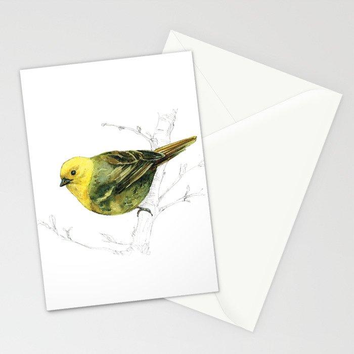 Mr Mohua , yellowhead New Zealand native bird Stationery Cards