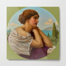 "John William Godward ""Heart On Her Lips And Soul Within Her Eyes"" Metal Print"