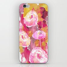 Painterly Flowers iPhone & iPod Skin