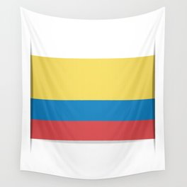 Flag of Colombia. The slit in the paper with shadows. Wall Tapestry