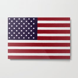 US Flag with grungy painterly textures Metal Print