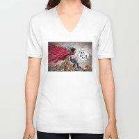 akira V-neck T-shirts featuring Akira Tetsuo  by Joe Badon