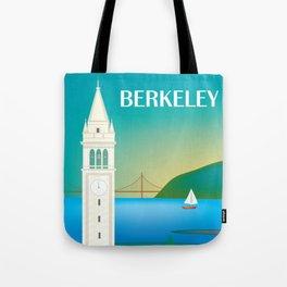 Berkeley, California - Skyline Illustration by Loose Petals Tote Bag