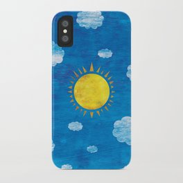Clouds and sun iPhone Case