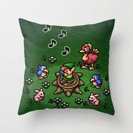 Flute Boy Throw Pillow