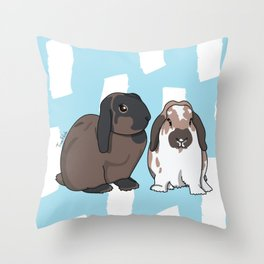 Oreo and Teddy Throw Pillow