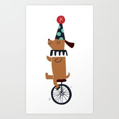 circus dog Art Print