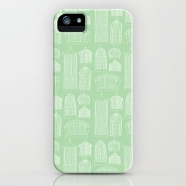 Birdcages (Green) iPhone Case