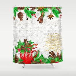 Christmas pine cones #1 Shower Curtain