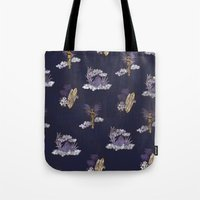 hawaii Tote Bags featuring hawaii by ulas okuyucu