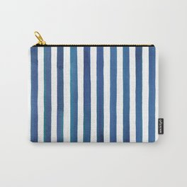 Blue stripes Carry-All Pouch