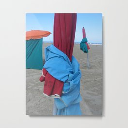 Parasols in Deauville, France (2008c) Metal Print