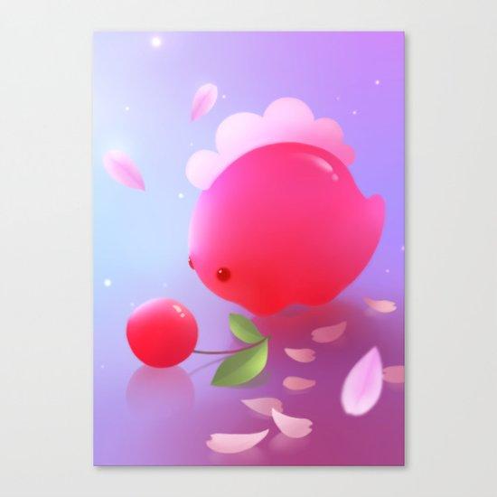 Sakura Dino Canvas Print