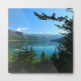 Beautiful Lake Minnewanka Metal Print