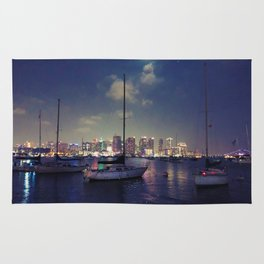 San Diego by Night - Oil Rug