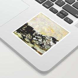 Golden mountains Sticker