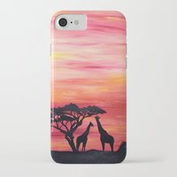 africa iPhone & iPod Cases featuring Africa by Monica Georg-Buller