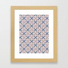 Cute Kids Fun Pinwheel Twirl Ornament Pattern Framed Art Print