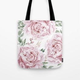Pretty Pink Roses Flower Garden Tote Bag