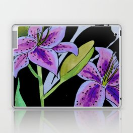 Purple tie dye flower Laptop & iPad Skin