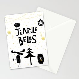 Jingle bells animals Stationery Cards