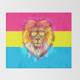 The Pan Lion Pride Throw Blanket