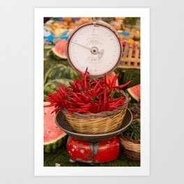 Chillies anyone! Art Print