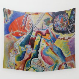 Red Chalkboard, Abstract, Wassily Kandinsky, 1919 Wall Tapestry