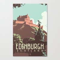 edinburgh Canvas Prints featuring Edinburgh by bonggg