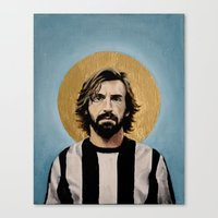 pirlo Canvas Prints featuring Andrea Pir_lo - Football Icon by David Diehl Football Art