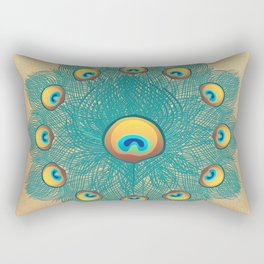 Mandala Peacock Rectangular Pillow