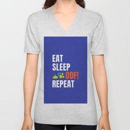 Roblox OOF Eat Sleep Oof Repeat Unisex V-Neck