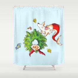 Coral Wreath Shower Curtain