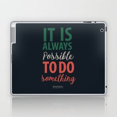 Law and Justice by Hero G. Falcone - Illustration Poster for Motivation and Inspiration Laptop & iPad Skin