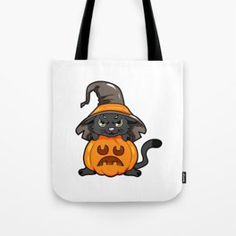angry kitty Halloween Cat Witch present gift Tote Bag
