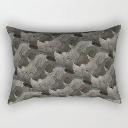 Rhino Heads Rectangular Pillow