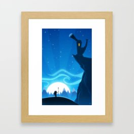 Castle on the Blue Mountain Framed Art Print