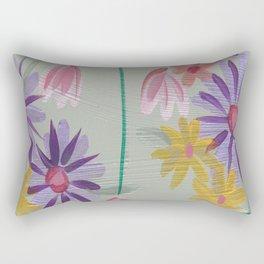 Rain Flowers Rectangular Pillow