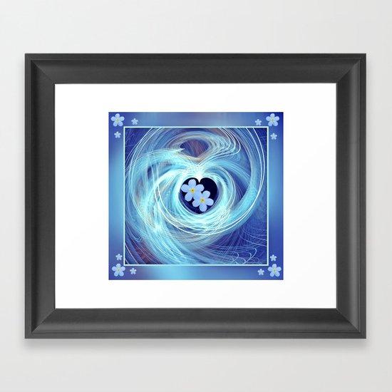 Coeur de Fleur Framed Art Print