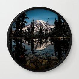 Rainier Reflection 2018 Wall Clock