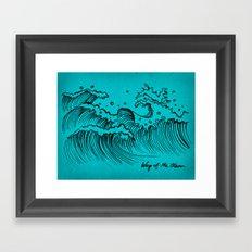 WAY OF THE OCEAN - Waves Print Framed Art Print