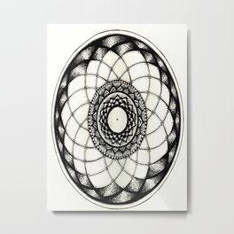 complicated flower Metal Print