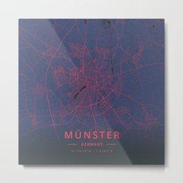 Munster, Germany - Neon Metal Print