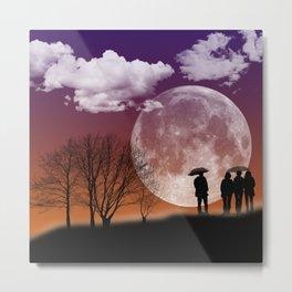 """""""Walking in front of the moon"""" #digital #art Metal Print"""