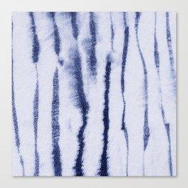 Indigo Ink Washed Lines Canvas Print