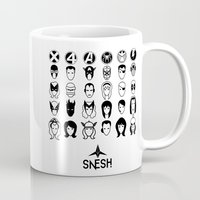 superheroes Mugs featuring Superheroes pictograms by Snesh