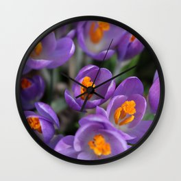 Bunch of Crocus Wall Clock