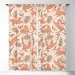 Vintage, Boho Tigers and Bamboos Blackout Curtain